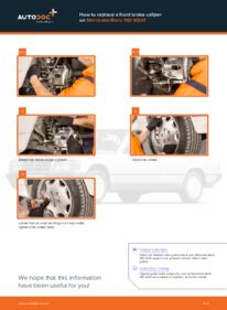 How to carry out replacement: Brake Calipers on E 2.0 (201.024) Mercedes W201