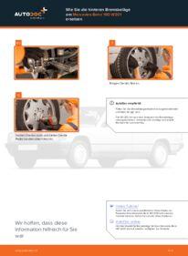 Wie der Ersatz vollführt wird: Bremsbeläge am MERCEDES-BENZ 190