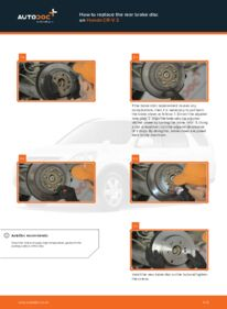 How to carry out replacement: Brake Discs on 2.0 (RD4) Honda CR-V II