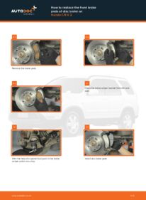 How to carry out replacement: Brake Pads on 2.0 (RD4) Honda CR-V II