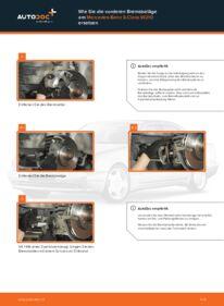 Wie der Ersatz vollführt wird: Bremsbeläge am E 300 3.0 Turbo Diesel (210.025) Mercedes W210