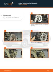 How to carry out replacement: Brake Discs on 2.0 HDI 110 Peugeot 406 Estate