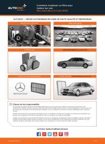 Comment effectuer un remplacement de Filtre à Air sur E 300 3.0 Turbo Diesel (210.025) Mercedes W210