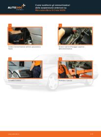 Come effettuare una sostituzione di Ammortizzatori su E 300 3.0 Turbo Diesel (210.025) Mercedes W210