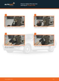 How to carry out replacement: Wheel Bearing on 2.0 HDI 110 Peugeot 406 Estate