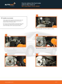 How to carry out replacement: Brake Pads on CDI 2.2 (639.711, 639.713, 639.811, 639.813, 639.815) Mercedes Viano W639