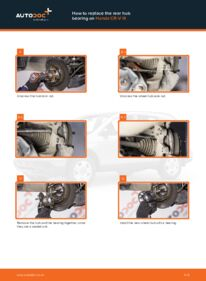 How to carry out replacement: Wheel Bearing on 2.2 i-CTDi 4WD (RE6) Honda CR-V III