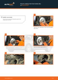 How to carry out replacement: Brake Discs on 2.0 TDI Audi A4 b7