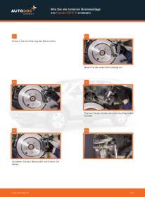 Wie der Ersatz vollführt wird: Bremsbeläge am HONDA CR-V