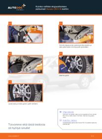 Kuinka vaihtaa Alapallonivel 2.2 i-CTDi 4WD (RE6) Honda CR-V III -autoon