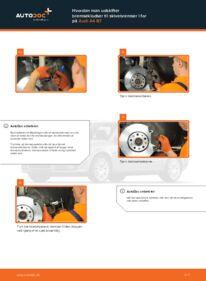 Hvordan man udfører udskiftning af: Bremseklodser på 2.0 TDI Audi A4 b7