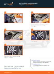 How to carry out replacement: Suspension Ball Joint on 2.2 i-CTDi 4WD (RE6) Honda CR-V III