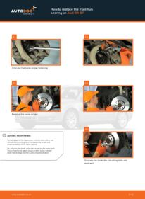 How to carry out replacement: Wheel Bearing on 2.0 TDI Audi A4 b7