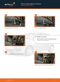 How to carry out replacement: Track Rod End on 1.3 MITSUBISHI COLT VI (Z3_A, Z2_A)