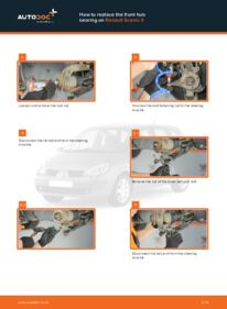 How to carry out replacement: Wheel Bearing on 1.9 dCi Renault Scenic 2