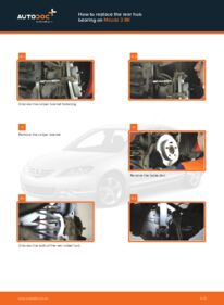How to carry out replacement: Wheel Bearing on 1.6 Mazda 3 bk