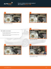 How to carry out replacement: Brake Pads on 1.6 Mazda 3 bk