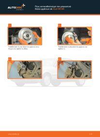 Πώς να πραγματοποιήσετε αντικατάσταση: Δισκόπλακα σε 2.0 Audi 80 b4