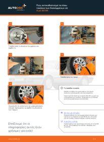 Πώς να πραγματοποιήσετε αντικατάσταση: Τακάκια Φρένων σε 2.0 Audi 80 b4