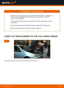 How to carry out replacement: Brake Discs on 1.2 60 Fiat Punto 188