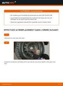 Comment effectuer un remplacement de Roulement De Roues sur 1.2 60 Fiat Punto 188