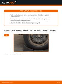 How to carry out replacement: Shock Absorber on 1.4 16V Polo 9n