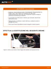 Come effettuare una sostituzione di Dischi Freno su 2.5 TDI VW TRANSPORTER IV Bus (70XB, 70XC, 7DB, 7DW)