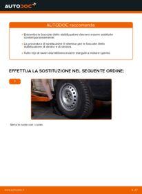 Come effettuare una sostituzione di Gommini Barra Stabilizzatrice su 2.5 TDI VW TRANSPORTER IV Bus (70XB, 70XC, 7DB, 7DW)