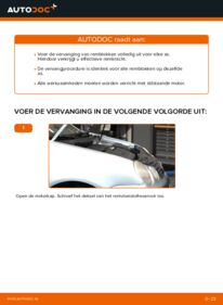 Vervanging uitvoeren: Remblokken 1.4 16V Polo 9n
