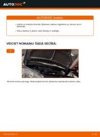 Kā veikt nomaiņu: A 140 1.4 (168.031, 168.131) Mercedes W168 Bremžu šļūtene