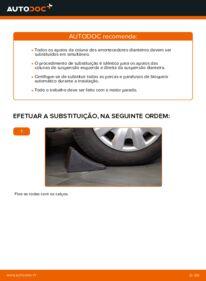 Como realizar a substituição de Cabeçotes Do Amortecedores no 2.0 D 4WD (CLA20_, CLA21_) Toyota Rav4 II