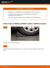 Comment effectuer un remplacement de Biellette De Barre Stabilisatrice sur 1.2 Renault Clio 2