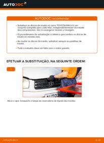 Como realizar a substituição de Discos de Travão no 2.0 D 4WD (CLA20_, CLA21_) Toyota Rav4 II
