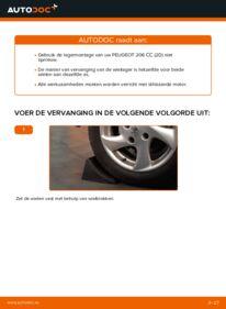 Vervanging uitvoeren: Wiellager 1.6 16V Peugeot 206 cc 2d