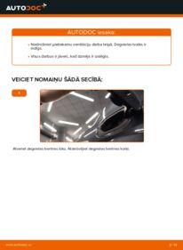 Kā veikt nomaiņu: 1.6 RENAULT MEGANE II Saloon (LM0/1_) Degvielas filtrs