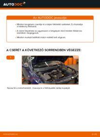 Hogyan végezze a cserét: 1.6 16V (F08, F48) Opel Astra g f48 Fékbetét