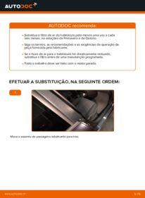 Como realizar a substituição de Filtro do Habitáculo no 1.6 RENAULT MEGANE II Saloon (LM0/1_)