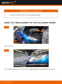 How to carry out replacement: Poly V-Belt on 1.6 16V Peugeot 206 cc 2d