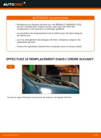 Comment effectuer un remplacement de Disques De Frein sur D 65 1.9 Renault Kangoo kc01