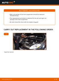 How to carry out replacement: Springs on 1.9 D Multijet FIAT BRAVO II (198)