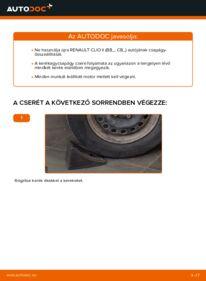 Hogyan végezze a cserét: 1.2 Renault Clio 2 Kerékcsapágy