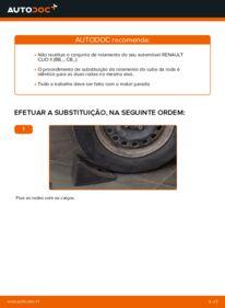 Como realizar a substituição de Rolamento da Roda no 1.2 Renault Clio 2