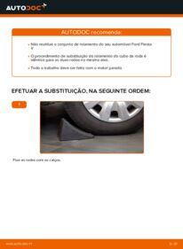 Como realizar a substituição de Rolamento da Roda no 1.4 TDCi Ford Fiesta V jh jd