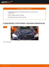 Slik bytter du Hovedlyskaster Pære på 1.6 16V (F08, F48) Opel Astra g f48