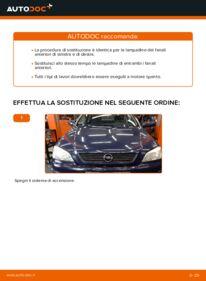 Come effettuare una sostituzione di Lampadina Faro Principale su 1.6 16V (F08, F48) Opel Astra g f48