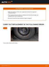 How to carry out replacement: Springs on 1.6 RENAULT MEGANE II Saloon (LM0/1_)