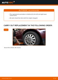 How to carry out replacement: Control Arm on 1.9 TDI Audi A3 8l1