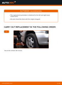How to carry out replacement: Control Arm on 112 CDI 2.2 (638.194) Mercedes W638 Minibus