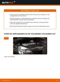 Vervanging uitvoeren: Interieurfilter 1.2 Renault Clio 2