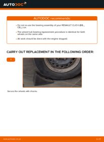 How to carry out replacement: Wheel Bearing on 1.2 Renault Clio 2